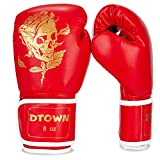 Dtown Boxing Gloves for Women & Men, Youth Kickboxing Training Gloves for MMA, Punching Bag Gloves, Muay Thai, Sparring Gloves