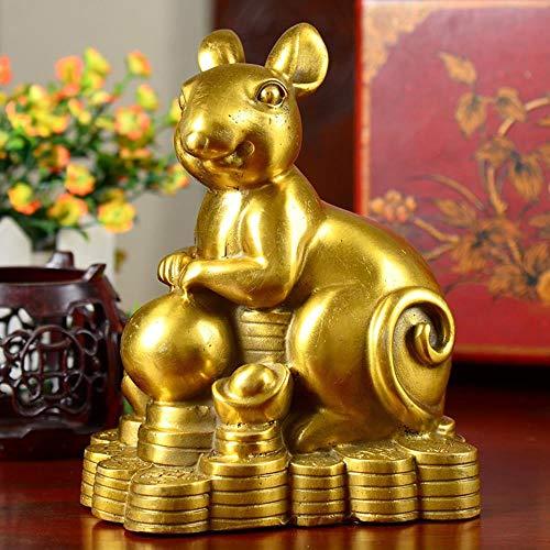 Puur koperen Chinese dierenriemdecoraties behoren tot kleine standbeelden van familiedecoraties op openbare plaatsen Feng Shui nieuw, paard, medium