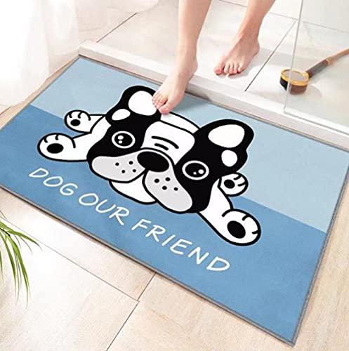 Felpudo para Puerta Interior Antideslizante,Felpudos absorbentes,fáciles de Limpiar,, relación Calidad-Precio,Gran Felpudo,90 X 150 cm Felpudo de Perro de Dibujos Animados