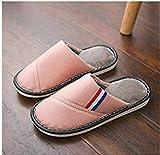 Flip Flop-GQ Compre uno y llévese una Zapatilla de algodón Impermeable Gratis para Damas Invierno Pareja cálida Interior Antideslizante-Rosa_38-39 Yardas