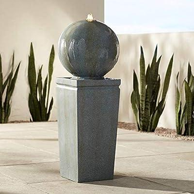 "John Timberland Ball and Pillar 34 1/4"" High LED Bubbler Fountain"
