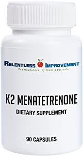 Relentless Improvement Vitamin K2 Mk4 Vegan Naturally-Derived Science-Based Dosing