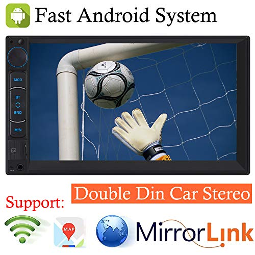 2019 Double Din Android System AM FM Radio In-dash Car Stereo Bluetooth Car Stereo 7inch Touchscreen Audio Receiver MP3 Vedio Player 1080P, Support Mirror Link for GPS Navigation Rear-View Camera, For