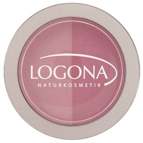 LOGONA Naturkosmetik Blush Duo No. 01 Rose&Pink, Rouge, Rosa und Pink, Natural Make-up, zaubert Kontur und Frische, mit Anti-Aging-Wirkung, Bio-Extrakte, 10 g