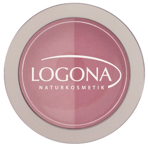 LOGONA Naturkosmetik Blush Duo No. 01 Rose&Pink, Rouge, Rosa und Pink, Natural Make-up, zaubert...