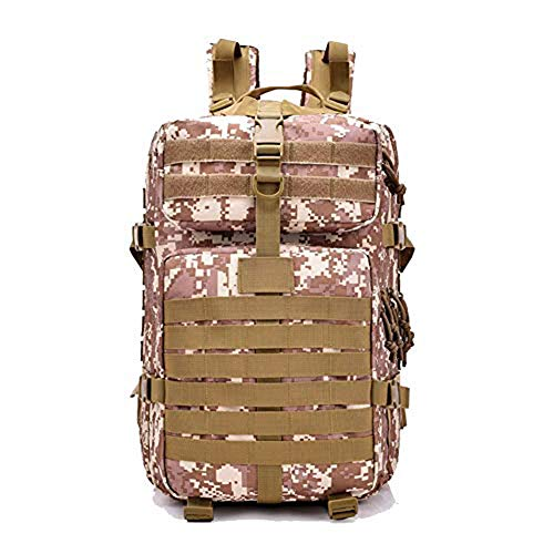 NOCHX Outdoor assault camouflage camping bag mountaineering unisex shoulder bag backpack 3D,B