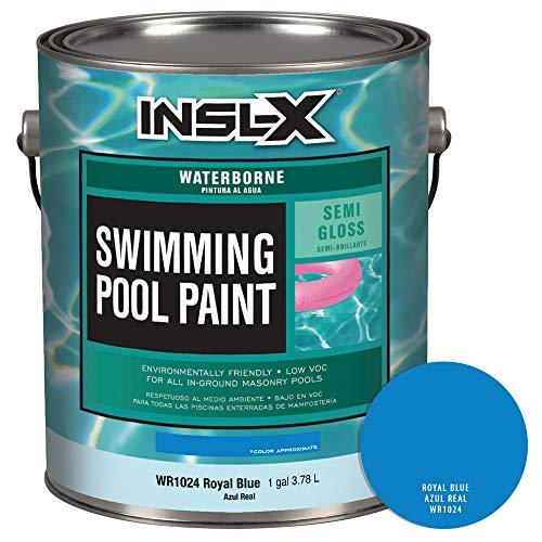 INSL-X WR102409A-01 Waterborne Semi-Gloss Pool Paint, 1 Gallon, Royal Blue