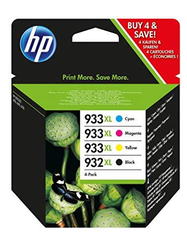 HP - Inchiostro originale n. 932XL nero e n. 933XL, confezione da 4 unità per HP OFFICEJET 6100/6600/ 6700