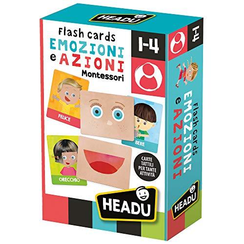 Headu Flashcards Montessori Emozioni e Azioni,...