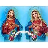 HSQMM 5D pintura de diamantes taladro completo santo y Virgen mosaico de diamantes venta diamantes de imitación redondos imágenes bordado de diamantes iconos de religión 30x40cm