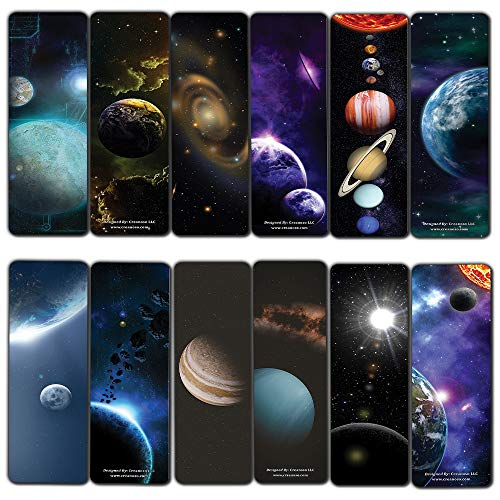Cosmos Outer Space Futuristic Universe Galaxy Bookmarks (60-Pack) – Awesome Bulk Pack Stocking Stuffers Gifts for Men Women Boys Girls Bookworms – Educational Learning Tool for Bibliophiles