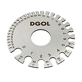 DGOL Stainless Steel SWG Sheet Metal Wire Cable Gage Standard Thickness Gauge with Very Clear Numbers and Letters