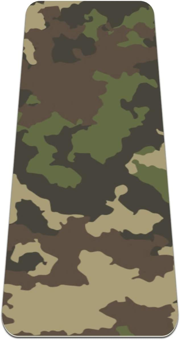 Siebzeh Army New Limited Special Price product Green Camouflage Premium Thick Non fo Yoga Mat Slip