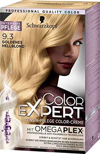 Schwarzkopf Color Expert Intensiv-Pflege Color-Creme 9.3 Goldenes Hellblond, 3er Pack (3 x 167 ml)