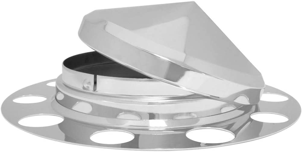 3 Pcs GG Grand General 10526 Chrome Plated Front Axle Cover w//Cone Cap for Aluminum Wheel