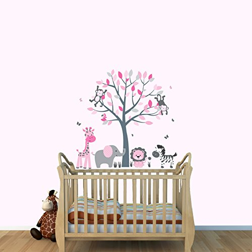 pink monkey wall decals - 8