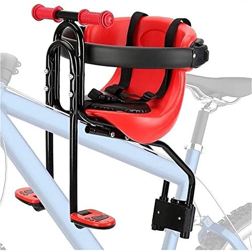 litulituhallo Asiento de sillín de bicicleta para niños doble punto fijo bicicleta de montaña color rojo