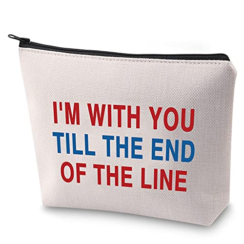 ZJXHPO I'm With You Till The End Of The Line Makeup Bag Captain America Inspired Gift Best Fiends Gift (TILL THE END)