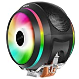 upHere 4pin PWM LED Rainbow CPU Cooler Ventilador de CPU 2 * 120mm Gaming Ultra Silencioso,Apoyo Intel y AMD (CCF150CF)