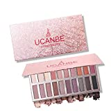 20 Colors Eyeshadow Palette, Matte + Shimmer High Pigmented Professional Smokey Cosmetic Eye Shadows Vegan Nudes Warm Natural Bronze Neutral makeup (A)