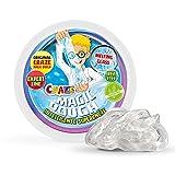 CRAZE-Intelligente Superknete für Kinder Kinderknete Magic Dough 35276-Plastilina de Vidrio Inteligente, 70 g, Transparente, Color Cristal líquido 35276