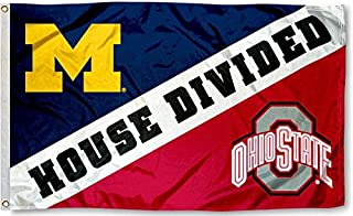 Michigan VS Ohio State House Divided 3x5 Flag