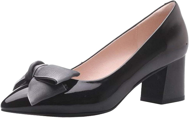 Lydee Women Elegant Bow Pumps Mid Heels