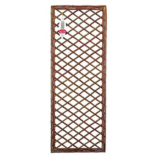 Gardman Framed Willow Trellis. 1.2m X 45cm. Set of 3. Natural Planter Panels.