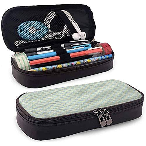 Bleistiftbeutel, federmäppchen tasche, federmäppchen, große kapazität bleistift slot kinder baby blau farbigen stern muster 20cm * 9cm * 4cm