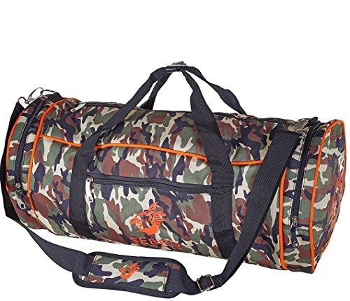 SeBRO Sports Neon Camouflage sporttas, voor vrouwen en mannen, in army-design, met veel vakken, schouderriem, draagriem voor fitness, sport en reizen
