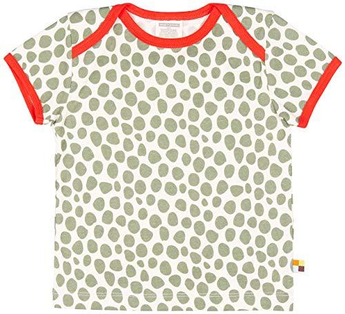 loud + proud Unisex Baby T-Shirt mit Druck, aus Bio Baumwolle, GOTS zertiziziert, Grün (Olive Oli), 80 (Herstellergröße: 74/80)