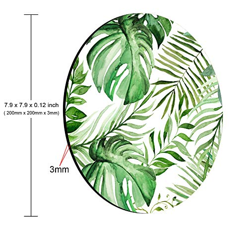 Smooffly Wild Leaf Mouse pad, Round Mousepad, Leaves Mouse pad, Office Supplies, Gift for Friend, Desk Accessories Photo #3