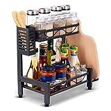 Organizador de especias, estante de almacenamiento para encimera de cocina...