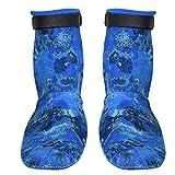 puseky 3mm Antideslizante Camuflaje Buceo Snorkeling Surf Calcetines Neopreno Invierno Natación Calcetines Azul XS