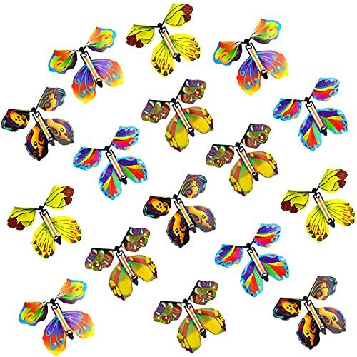 Mariposa Voladora Magica 16 Piezas Mariposa Mágica Plastico Juego Mágica Cumpleaños Aniversario...