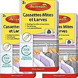 Aeroxon – Cassette polillas y larvas – 3 x 2 piezas – Trampa para polillas fiable, sólida y rápida contra las polillas de la ropa – Protección contra las polillas en los guardias de
