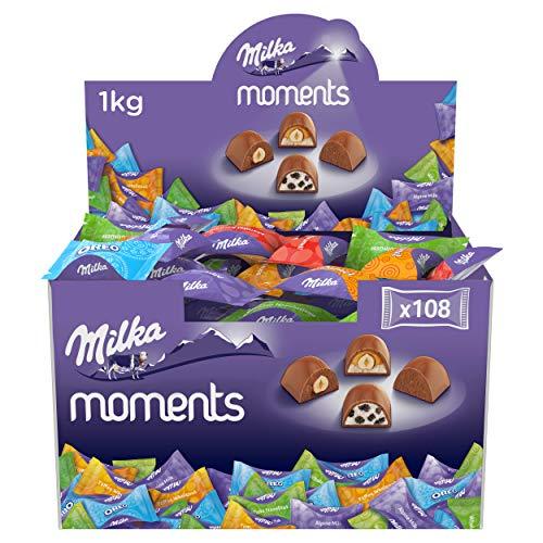 Milka Moments Chocolatinas De Tierno Chocolate Con Leche De Los Alpes - 1.000 G, 1000 Gramo