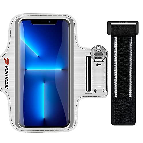 Sportarmband Handy, Schweißfest Sport Armband für iPhone 13 12 11 Pro Max, Galaxy S21 S20 S10, Huawei P40, Xiaomi Redmi Oppo REALME, mit Verlängerungsband, für Joggen Radfahren Wandern (6,1-6,9 Zoll)