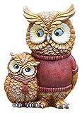 Desktop-Skulptur Eule Eltern-Kind Liebe Skulptur Kreative Vogel Puppe Sammlung Statue Tierkunst Harz Handwerk Figuren Indoor Outdoor Garten Dekoration Zubehör