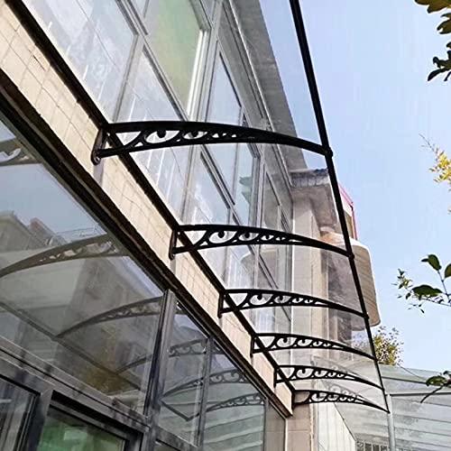 QYQPB Marquesina para, Toldo Moderno, Toldo de Aleros Al Aire Libre, Tablero de Resistencia de PC Transparente, Parasol, Patio, Jardín, Instalación Al Aire Libre (Size : 100 * 80cm)