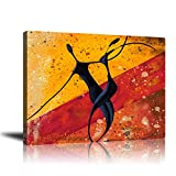 Abstract Modern Dancers Wall Art Oil Paintings Living Room Decor Canvas Pictures Prints African American Couple Frame Poster Studio Showroom Dorm Bedroom Home Decoration 16x20 inch