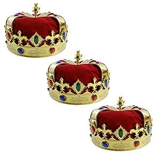 طلب Funny Party Hats Royal Jeweled King's Crown - Costume Accessory