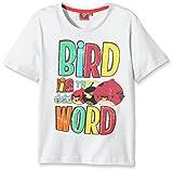 rovio angry bird t-shirt, bianco, 4 anni bambino