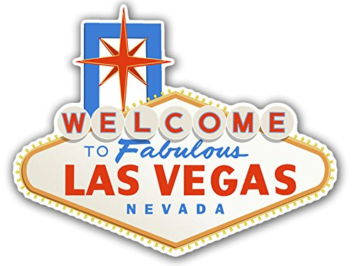 American Vinyl Welcome to Fabulous Las Vegas Sign Shaped Sticker (Love Nevada nv)