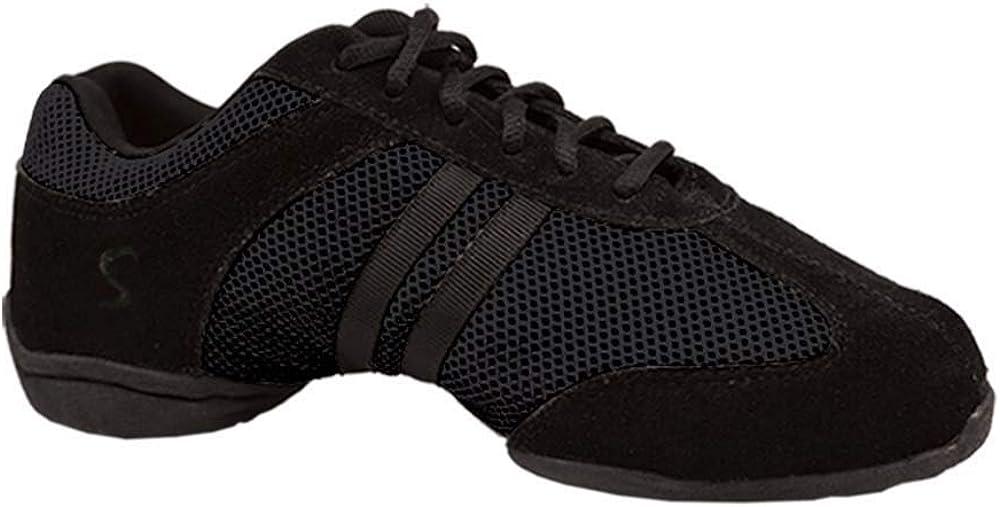 Skazz by Sansha Women's Dance Studio Exercise Sneakers Suede Leather Split-Sole Dyna-mesh