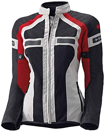 Moto Held Donna Giacca Estiva Tropic II 6533 Air Gry Rosso 3XL UK