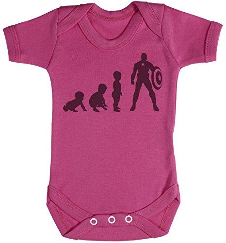 Baby Evolution to A Captain Baby Body bébé - Gilet bébé - Body bébé Ensemble-Cadeau - Naissance Rose