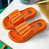 Zapatillas Sandalias de Playa Interior,Zapatillas de baño de Suela Blanda, Sandalias de Suela Gruesa para Parejas en casa-Orange_35-36,Zapatillas Pantuflas de Playa de Hombre