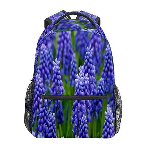 Business Laptop Backpack Travel Hiking Camping Daypack Hyacinth Garden College Bookbag Large Diaper Bag Doctor Bag School Backpack Water Resistant Anti-Theft for Women&Men