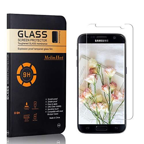 MelinHot Verre Trempé pour Galaxy S7, sans Poussière, Ultra Transparent, Dureté 9H Protection en Verre Trempé Écran pour Samsung Galaxy S7, 1 Pièces